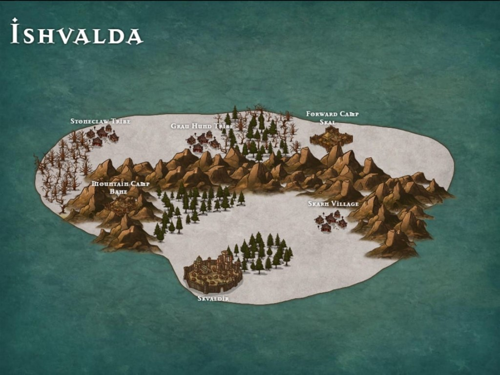 Inkarnate map of a continent