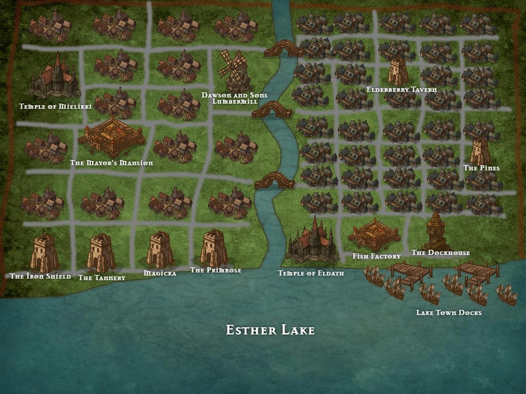 Inkarnate Map Lake Town